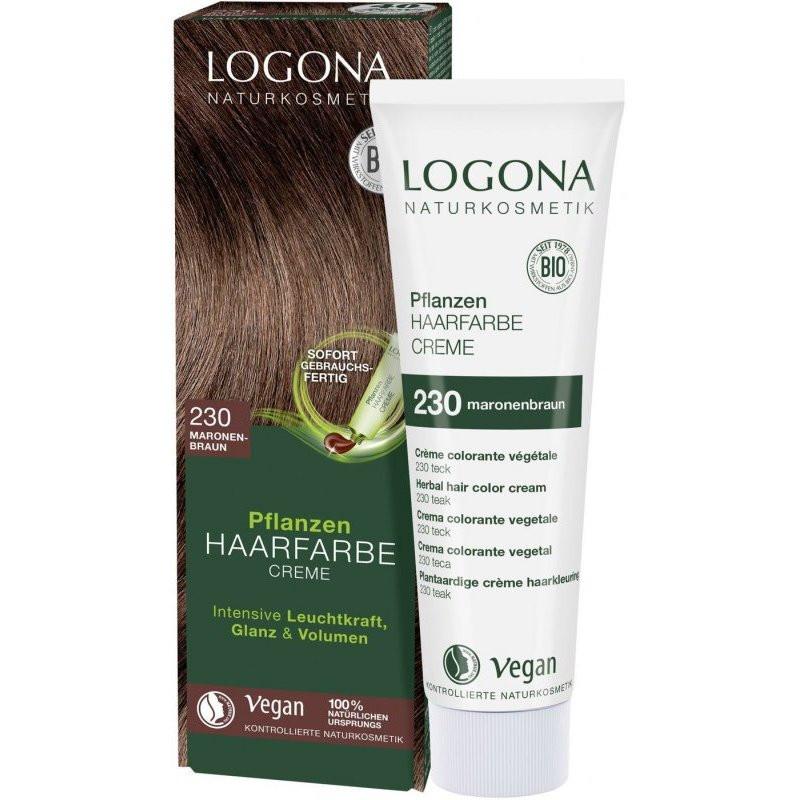 N/A Logona Bio-Gemüsecreme Haarfärbemittel Kastanienbraun 150 ml