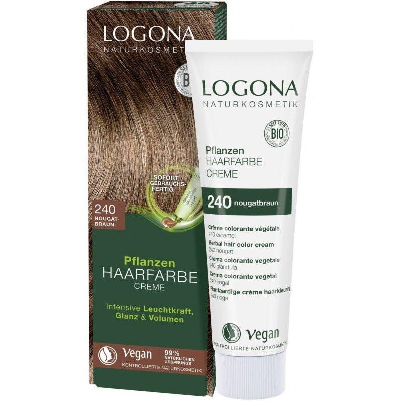 N/A Logona Bio-Gemüsecreme Haarfärbemittel Nougatbraun 150 ml
