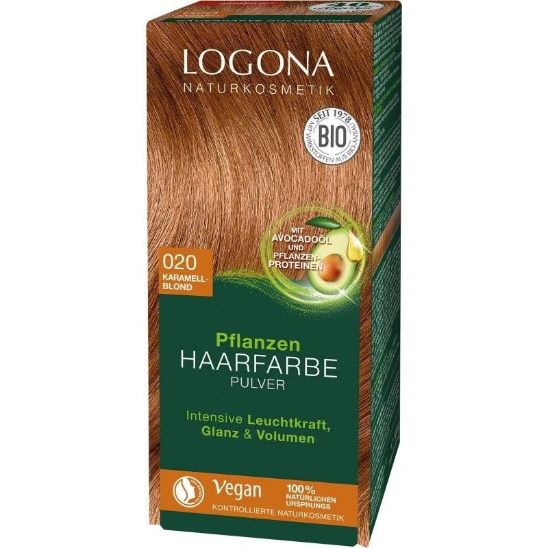 N/A Logona Bio-Pflanzenhaarfärbemittel Pulver Karamellblond 100 g