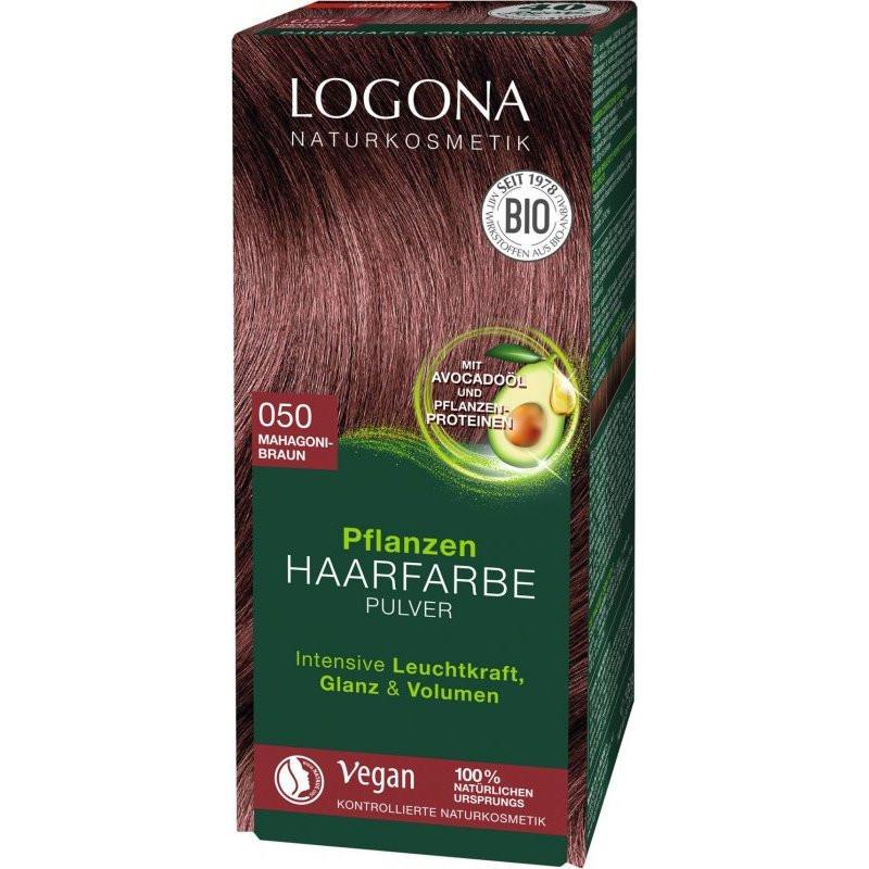 N/A Logona Bio-Pflanzenhaarfärbepulver Mahagoni braun 100 g
