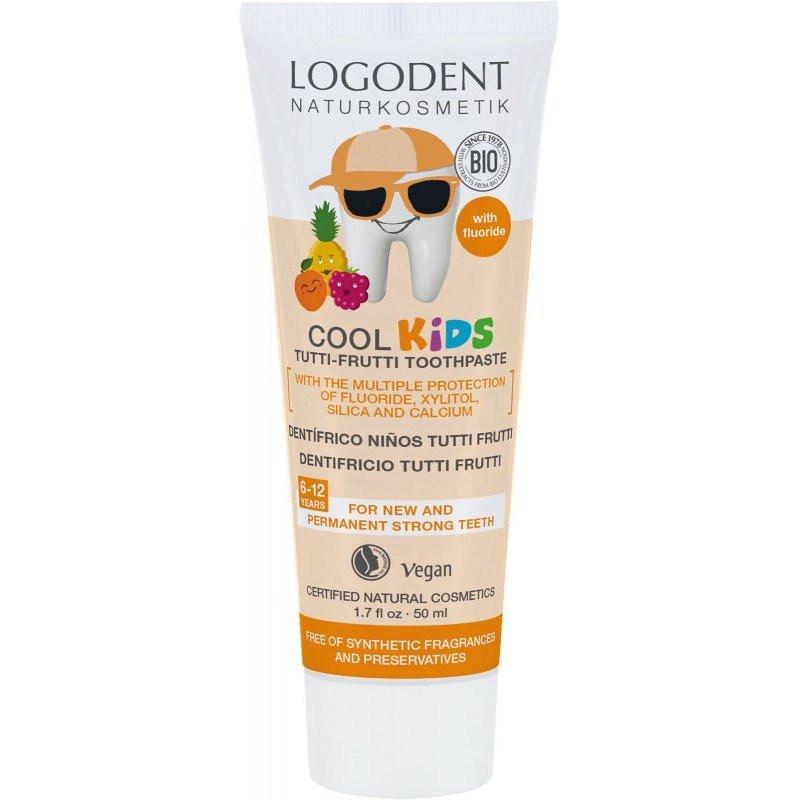 N/A Logona Logodent Cool Kinder Kinderzahnpasta mit Tutti-Frutti-Geschmack 50 ml
