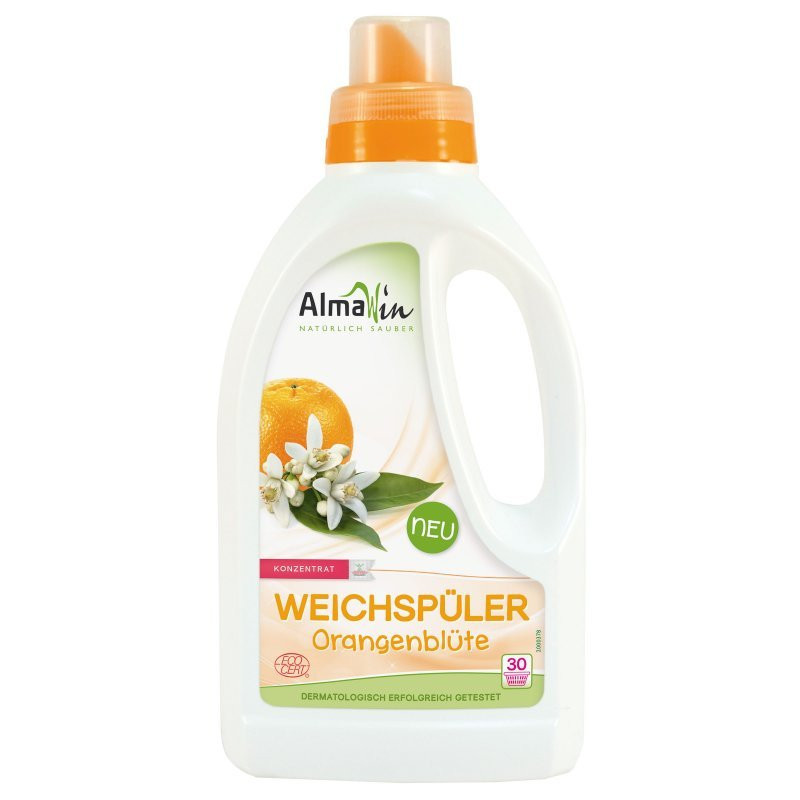 N/A Almawin flüssiger organischer Weichspüler orange Blume 750 ml