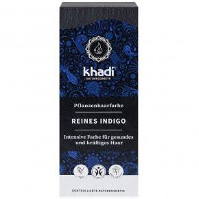 N/A Khadi Bio-Haarfärbemittelpulver bläulich-schwarz-indigo 100 g