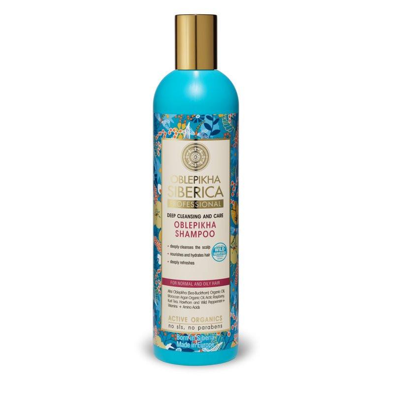 N/A Natura Siberica Deep Cleansing Sanddorn Shampoo für normales bis fettiges Haar 400ml