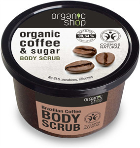 N/A Bio-Shop Brasilianischer Kaffee Zucker Körperpeeling 250 ml