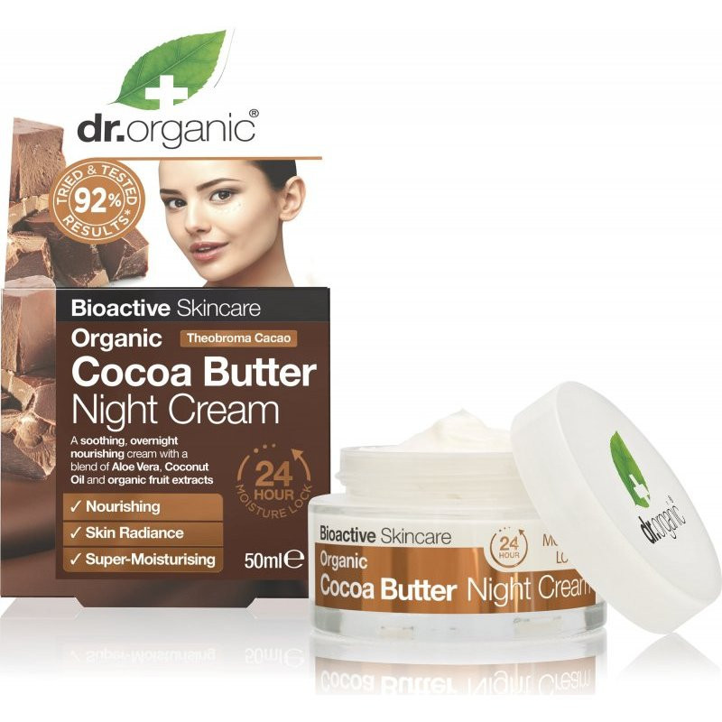 N/A Dr.Organic Night Gesichtscreme mit Bio-Kakaobutter 50ml