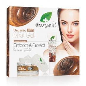 N/A Dr.organic Schneckengel Duo Set Gel + Augenfaltencreme 1 Stck