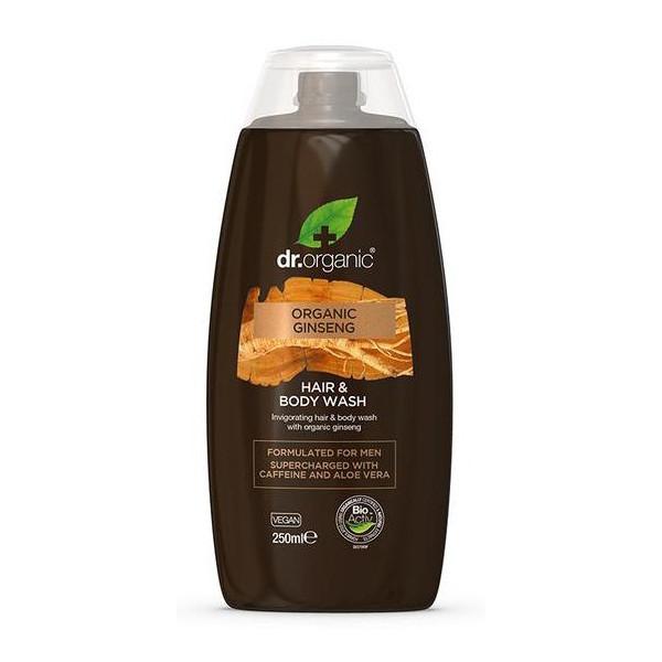 N/A Dr.Organic Men 2 in 1 Shampoo und Duschgel mit Bio-Ginseng 250ml