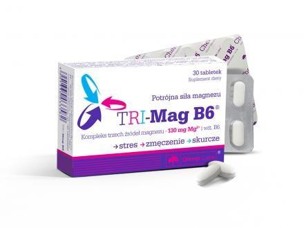 N/A Olimp Labs(R) TRI-Mag B6 (TM) - 3 Magnesiumsalze zusammen: Magnesiumcarbonat, Magnesiumlactat, Magnesiummalat.