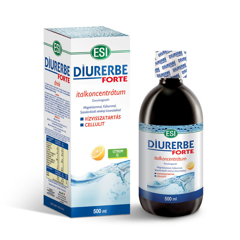 N/A ESI(R) Diurerbe(R) Forte Getränkekonzentrat, Zitronengeschmack - Gegen Wassereinlagerungen und Cellulite. 500 ml