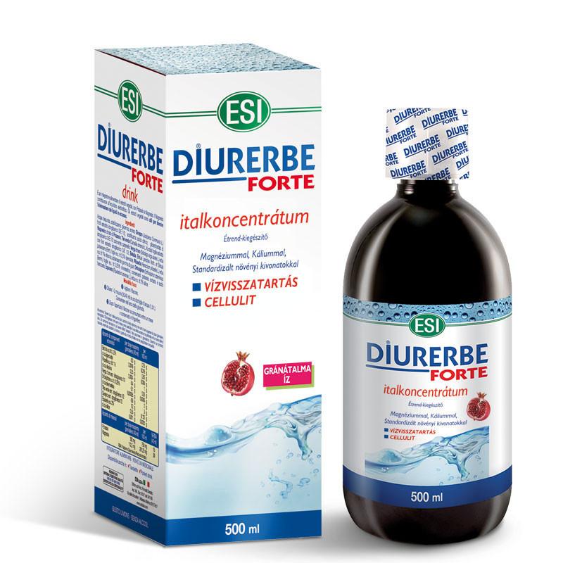 N/A ESI(R) Diurerbe(R) Forte Getränkekonzentrat, Granatapfelgeschmack - Gegen Wassereinlagerungen und Cellulite. 500 ml